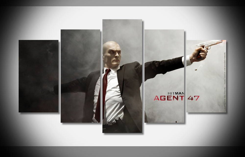 6605 Rupert Friend in Hitman Agent Movie Poster digital print Framed Gallery wrap art print home wall decor wall picture