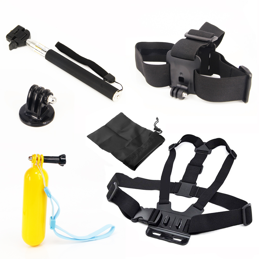 For Gopro Accessories Set Self font b Monopod b font with Adapter Mount Float Bobber Chest