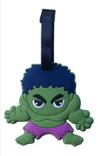 Reizen Accessoires Cartoon Bagagelabel Anime Diffuse Hero Hulk Bagage Tags Gecontroleerd Kaart Koffer Label Groothandel(China)