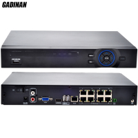 GADINAN 8CH 48V POE NVR 1080P 3MP Video Recorder P2P H 264 Onvif Network 8 Channel