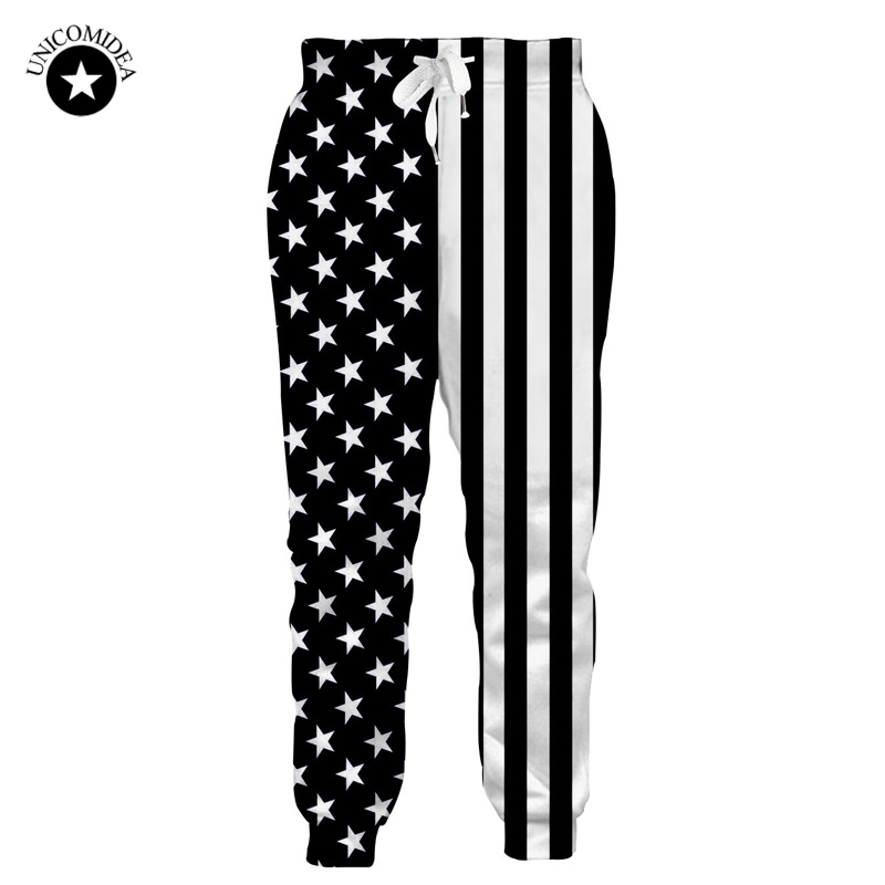 ee7f709a5ef Men Casual Jogger Pants American USA Flag Printed Track Pants Mens Stars  Stripe Hip-hop Fashion Sweatpants Slim Fit Trousers