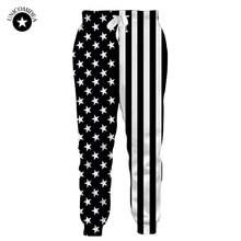 5ef3879dadfe8 Hombres casuales pantalones Americano bandera de los Estados Unidos impreso Pantalones  Hombre estrellas de hip-hop moda Pantalon.
