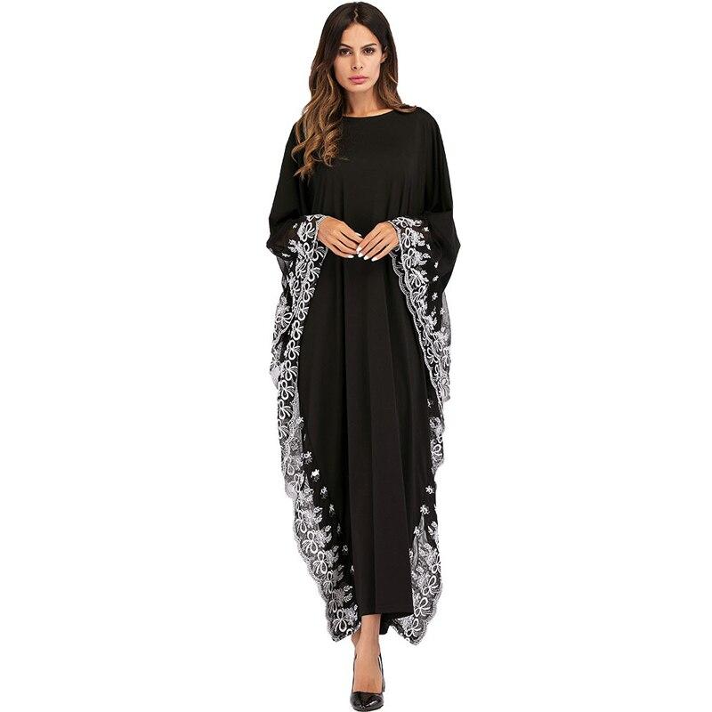 86adab62b1915d Vestido 2019 émirats arabes unis caftan Abaya dubaï indonésie Robe arabe  femmes dentelle broderie musulman Hijab turc islamique Jurken longue Robe