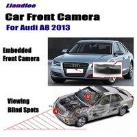 Liandlee para Audi A8 2013 Vista frontal del coche logo Embedded Cámara 4.3