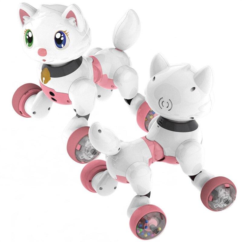Commande vocale électronique chien chat Robot intelligent sonnant danse Interactive chanter marche chiot Action avec des jouets de détection de geste