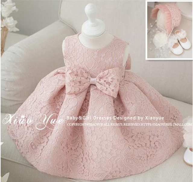 223d91941 Newest Infant Baby Girl Dress 1 Year Birthday Dresses Baptism ...