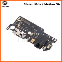 New For Meizu M6s /Meilan S6 USB Charging Port Board Dock Connector Flex Cable with Microphone Replacement Spare Parts