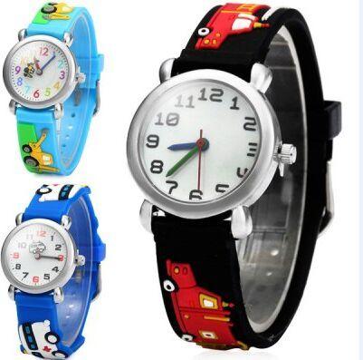 Waterproof 30m Children Silicone Wristwatches car Brand Quartz Wrist Watch For G
