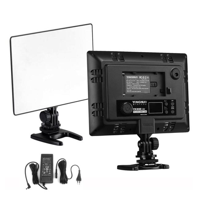 DSLR YONGNUO YN 300 YN300 Air Ultra Thin CRI 95+ Led Video Light Panel 3200 5500K Bi color 2000LM for Canon Nikon Sony Cameras