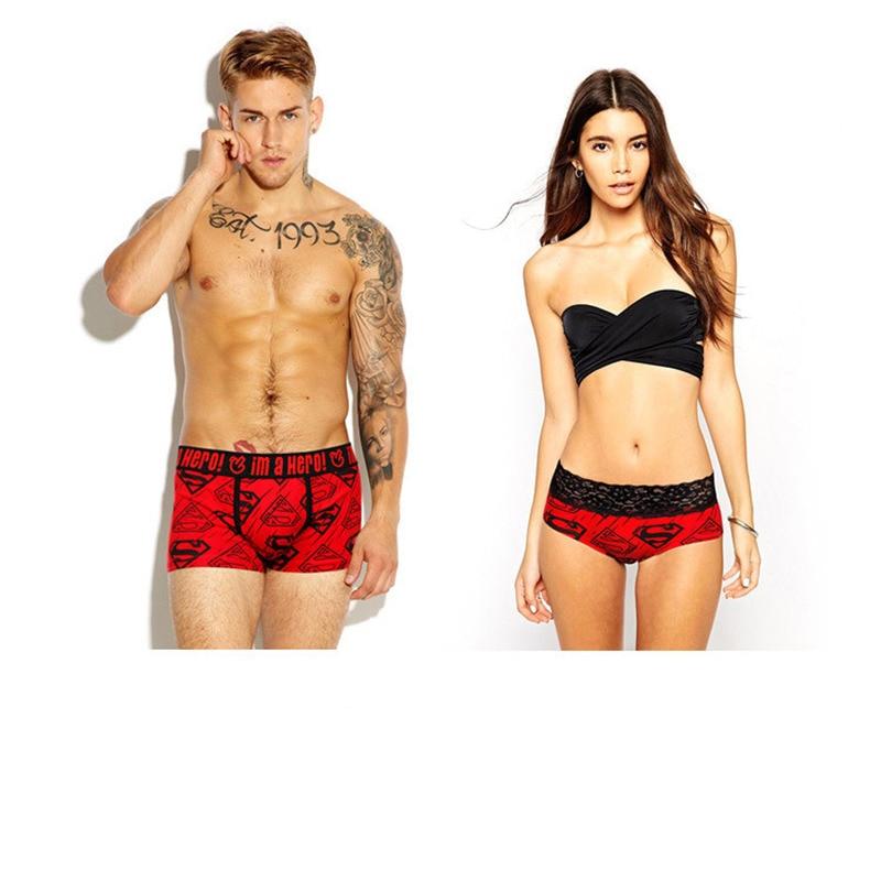 Qizxim Cartoon Batman Cotton Boxer Printing Super Sexy Underpants Couples Women Men Underwear Triangle Panties Men Shorts Boxers