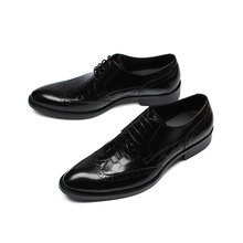 EIOUPI leather mens formal business brogues shoe