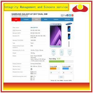 Image 4 - 10 pçs/lote Para Samsung Galaxy A7 2017 A720 A720F Montagem Do Monitor Do Painel de Display LCD Com Tela de Toque Digitador Completo