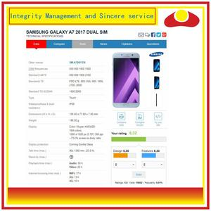 Image 4 - الأصلي لسامسونج غالاكسي A7 2017 A720 A720F SM A720F شاشة LCD مع شاشة تعمل باللمس محول الأرقام لوحة رصد الجمعية كاملة