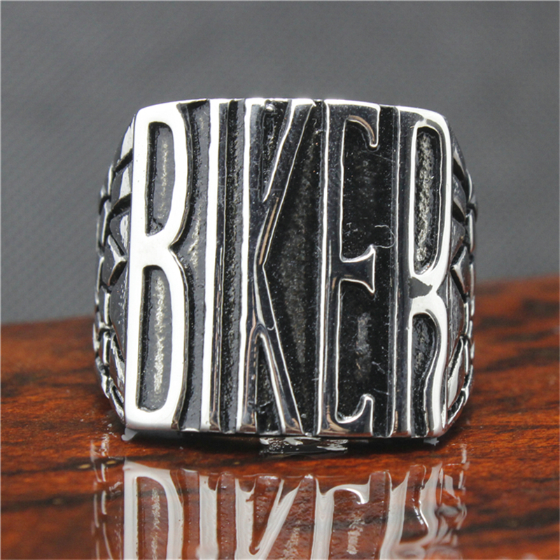 316L Stainless Steel Silver BIKER Ring Mens Motorcycle Biker Band Party Mens Ring rombica mysound bh 03 2c blue наушники