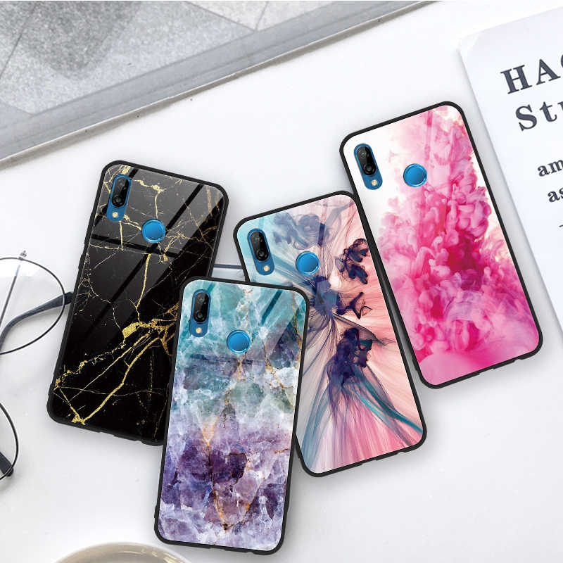 Tempered Glass Marble Case For Huawei Mate 9 10 20 P9 P10 P20 Plus Pro Lite P Smart Fundas FOR Honor 8X 7A Pro 9 10 Lite Case
