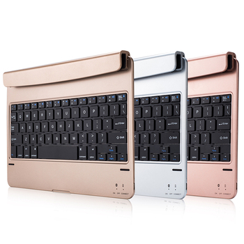 цена на Ultra Thin Light Wireless Bluetooth 3.0 Keyboard With Rotated Table Stand Holder For iPad Pro 9.7