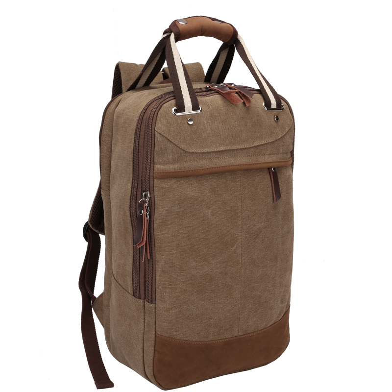 Men Fashion Canvas Backpack Travel Bag Shoulder Bag Computer Backpacking Mens Functional Big Bags Men Casual School Bag 2017 aosbos fashion portable insulated canvas lunch bag thermal food picnic lunch bags for women kids men cooler lunch box bag tote