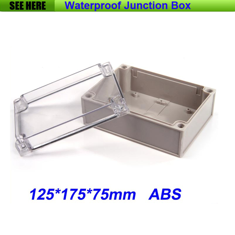 все цены на Free Shipping Good Quality ABS Material Transparent Cover IP66 Waterproof Cable Junction Box 125*175*75mm