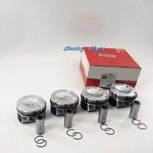 Двигатели для автомобиля Поршни и кольца для мотоциклов 82.51 мм и 23 мм 4 шт. для VW Tiguan CC GTI Audi A3 A4 A5 A6 Skoda 2.0 TFSI 06H107065DD 06H198151C 06H107099CA