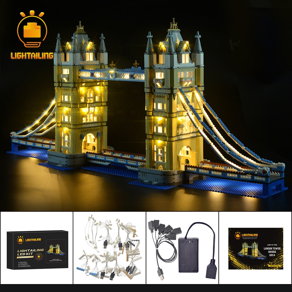 LIGHTAILING LED Light Kit For Architecture London Tower Bridge Light Set Compatible With 10214 And 17004 (NOT Include The Model)