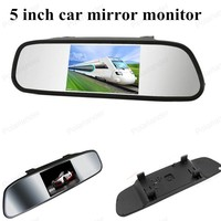 auto monitor 5 inch TFT resolution LCD vehicle digital car monitor small display for reversing parking backup camera FOR SALE
