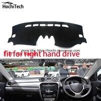 For Suzuki Vitara Right Hand Drive Dashboard Mat Protective Pad Black Red Car Styling Interior Refit