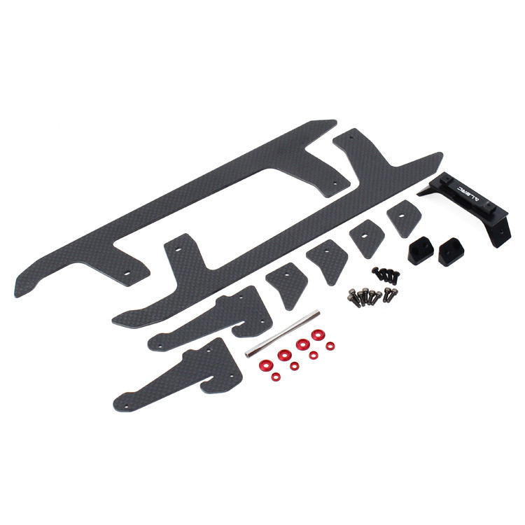ALZRC -505 500S Helicopter Parts Devil 505 FAST Carbon Fiber Landing Skid Set Fit SAB 500 Sport D505F40 alzrc devil 500 pro sdc dfc brushless esc motor carbon fiber structure 3300mah battery flybarless gyro system rc helicopter kit