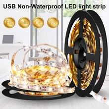 USB Led Strip Waterproof Light Neon Led Lamp Tape Flexible Wall Light Strip 5V Fita Led TV Background Bias Lighting Ribbon 5M