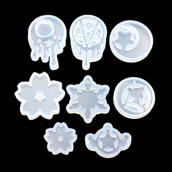 bear moon star shell fish tail hairpin silicone mold for jewelry resin jewelry making tool uv epoxy resin molds SNASAN Silicone Mold for jewelry tear moon star Trojan Resin Silicone Mould handmade tool DIY  epoxy resin molds
