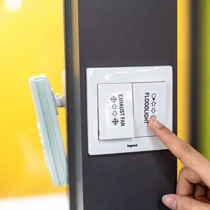 Unistar 5pcs TZ Tze 231 Brother P-touch เทป 12 มม.สีขาว TZe231 TZ-231 สำหรับ PT-H100 PT-D200 LABEL Maker