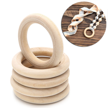 DIY Wooden Beads Connectors Circles Rings Beads Lead Free Natural Wood