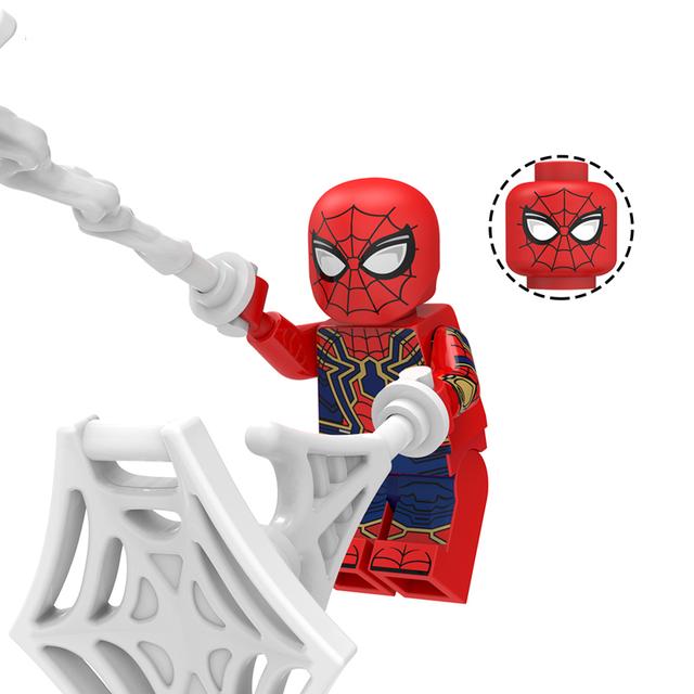 super heros Marvel Avengers Mysterio Ultimate Spider-Man Noir Gwenom Building Blocks Bricks figure Toys For Children KT1027