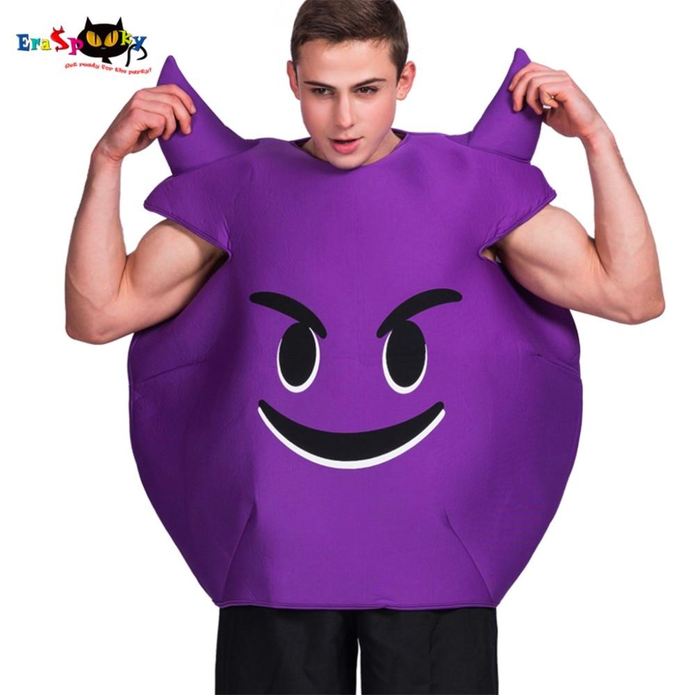 2017 new arrival devil emoticon emoji cosplay purple love live party