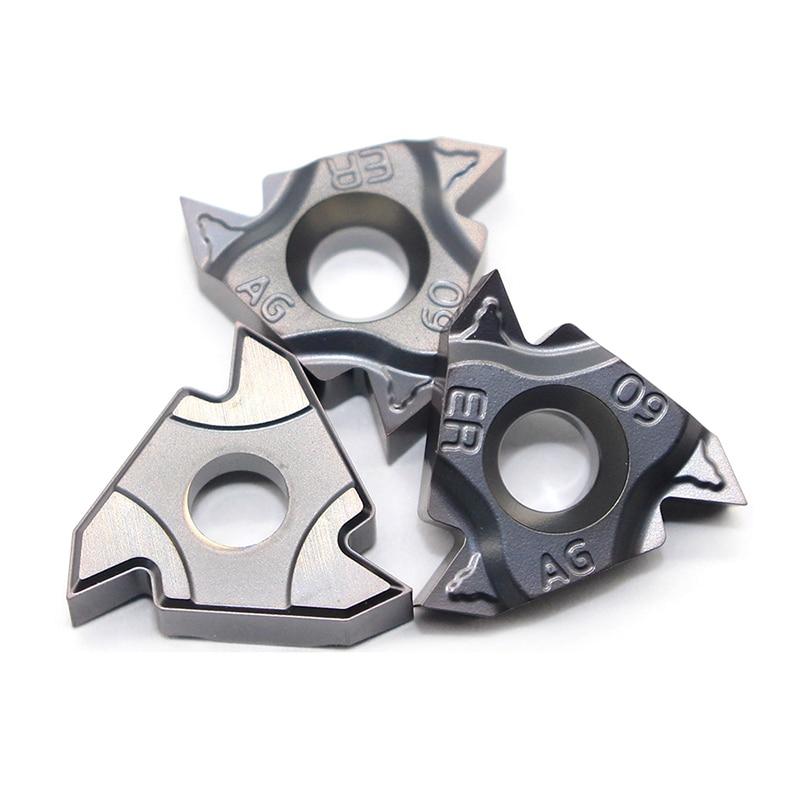 Купить с кэшбэком 16ER AG60 11IR A60 16IR AG60 A60 G60 22IR 22ER N60 60 angle Thread turning tool Tungsten Carbide Insert Original Threading Lathe