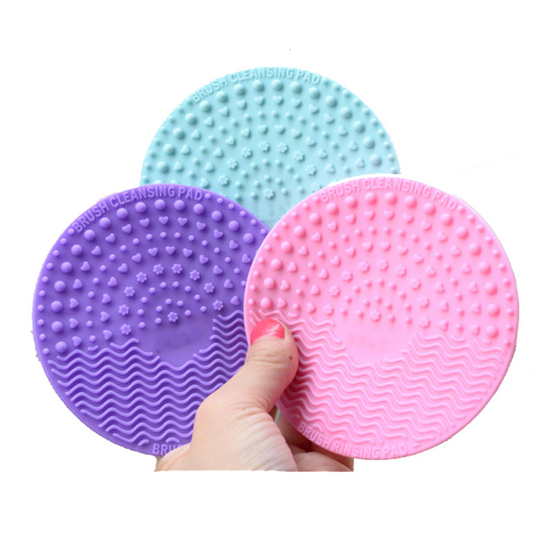 1pcs Silicone Makeup Brush Cleansing Pad Palette Brush Cleaner Cleaning Mat Washing Scrubber Pad Cosmetic Make Up Cleaner Tools-in Eye Shadow Applicator from Beauty & Health