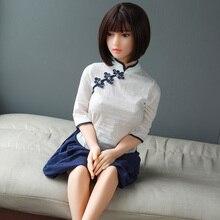 Full Silicone Small Breast 158cm Sex Dolls for Men realistic Anal Mini Vagina Japanese Skeleton Adult Lifelike Anime Love Dolls