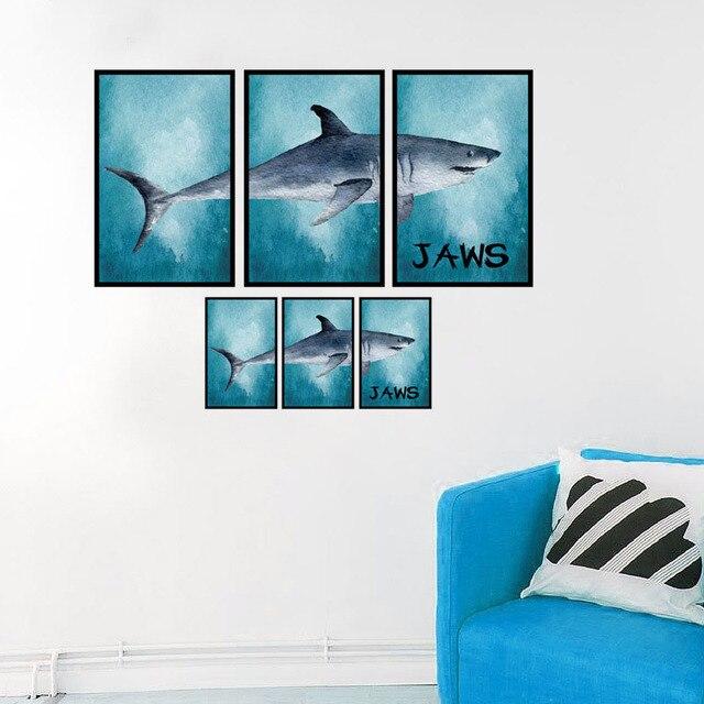 Sea Shark Frame Wall Stickers Home Decoration DIY Living Room ...