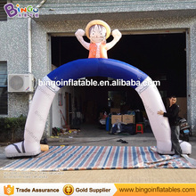 5M Oxford Inflatable Luffy Arch Inflatable Archways with Fan Blower for Outdoor Decoration One Piece inflatable fidget toys