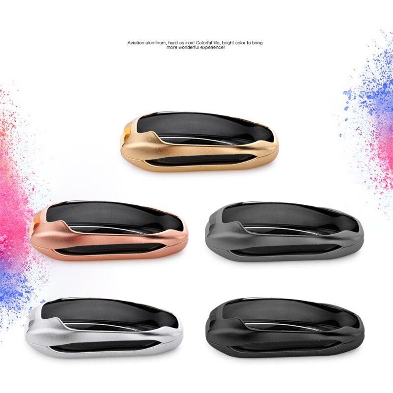 Для Tesla модель X Алюминиевый сплав Ключи сумка Авто Оболочки Защитная крышка кожи В виде ракушки автомобиля Средства для укладки волос