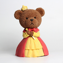 Nicole 3D Bear Queen Silicone Mousse Cake Mold Ice Cream Chocolate Resin Clay Craft Tool Handmade Soap Candle Mould