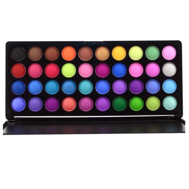 Profissional 40 Full Color Eyeshadow Palette Maquiagem 2017 Nova Shimmer Matte Sombra Mineral Maquiagem Kit Conjunto de Cosméticos