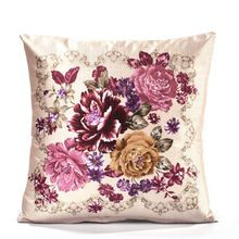 Colorful Flower Pattern Polyester Fiber Throw Pillow Square Cushion Cover For Car  Sofa Seat Pillow Case  Home Decorative castle buddha shadow chinese polyester toss throw pillow square cushion gift