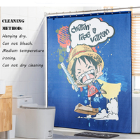 Useber Thickened Polyester Shower Curtain Waterproof Mold Mildew Bathroom Curtain Curtain With Metal Hook Little Luffy