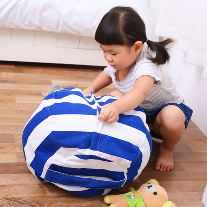 Creative Modern Storage Stuffed Animal Storage Bean Bag Chair Portable Kids Clothes Toy Quickly New Environmental Protection