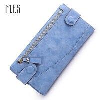 MFS Women Long Wallet Design Hasp Leather Purse Female Coin Purse Double Zipper Clutch Phone Holder