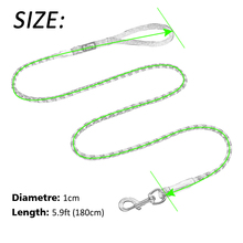 Nylon Reflective Dog Leash Safety 6ft Long  For Small Medium Large Dogs