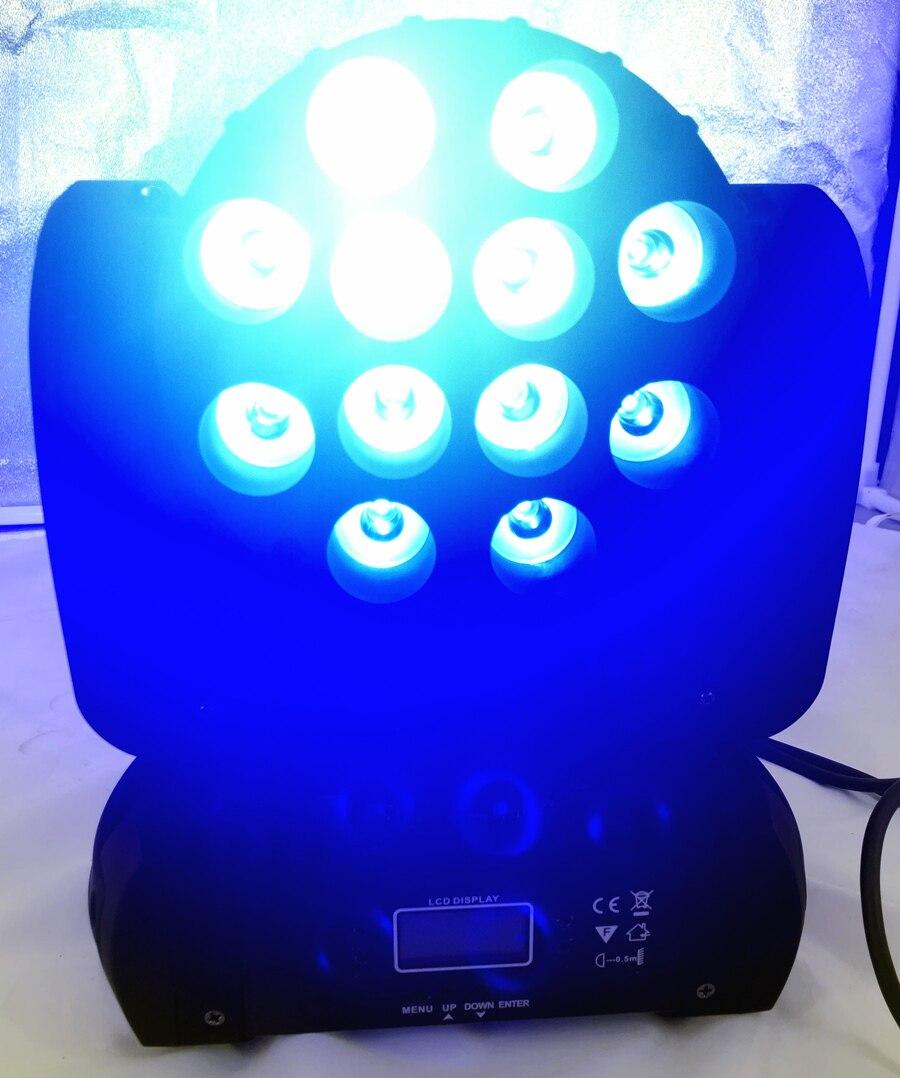 LED 12x12 W lavage LED orientable étape lumière rgbw RGBW 4in1 Quad lampe à LED avancé 9/16 DJ DMX canaux pour scène professionnelle - 5