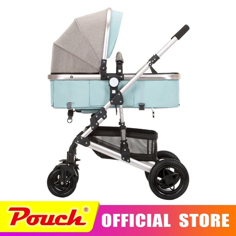 Anershi 2018 новая коляска Высокая Пейзаж может сидеть или лежать на колеса портативный маленьких машинок Детские коляски Бесплатная доставка