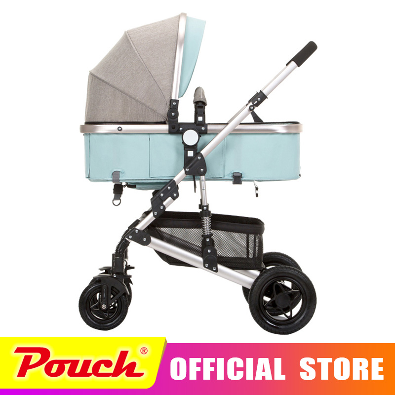 anershi 2018 new stroller high landscape can sit or lie on wheel portable baby carts baby stroller Free shipping aoxin new children s karting four wheel exercise can sit baby pneumatic tires exercise bike