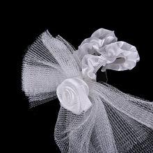 2Pcs/Set or 1Pcs Bridal Veil & Bow Tie Toasting Wine Glasses